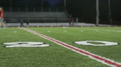 Football field at 20 yard line Stock Footage