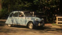 Ente Citroen Germany France 16mm Super8 - stock footage