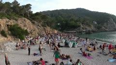 Ibiza drummers benirras Stock Footage