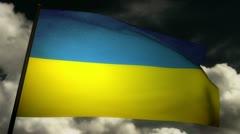 Flag Ukraine 02 Stock Footage