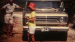 Car Beach Hawksnest Australia 16mm Super8 Stock Footage