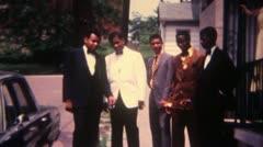 Black Men shaking Hands Suits 16mm Super8 Stock Footage