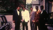 Stock Video Footage of Black Men shaking Hands Suits 16mm Super8