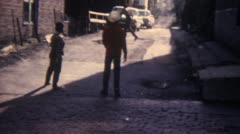 Street Baseball Kids 16mm Super8 - stock footage