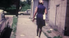 Black Woman Walking Away 16mm Super8 - stock footage