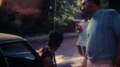 Black People Black Car Philadephia 16mm Super8 - stock footage