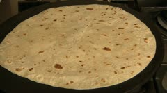 Piadina bread heating. Stock Footage