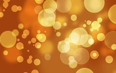 Abstract Bokeh Background Orange - stock photo