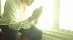 Prayer pray praying god christian religon religous jesus christ Stock Footage