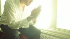 Rukous rukoilla rukoileminen jumala kristillinen religon uskonnollinen jeesus kr Arkistovideo