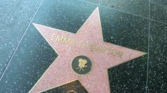 Walk of Fame Emma Thompson Stock Footage