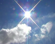 Timelapse clouds blue sky sun - stock footage