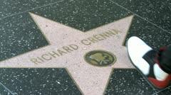 Walk of Fame Richard Crenna Stock Footage
