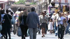 Pedestrians walking in Sicily, Italy. Stock Footage