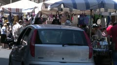 Sicilian street market, Europe. - stock footage