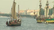 Old ships Stock Footage