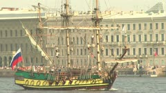 Old ship Stock Footage
