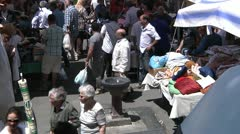Catania summer street market. - stock footage