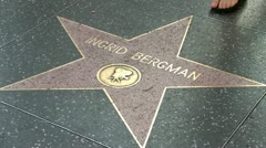 Walk of Fame Ingrid Bergman Stock Footage