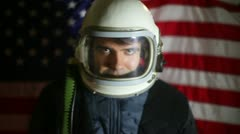 American astronaut us usa nasa - stock footage