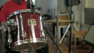 Slow Motion Drummer Hitting Hi-Hat Stock Footage