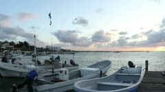 Fishing village yucatan mexico Stock Footage