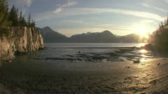Turnagain Arm Mud Flats Tide Timelapse - stock footage