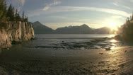 Turnagain Arm Mud Flats Tide Timelapse Stock Footage