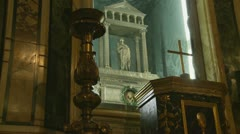 (Skull) St Agnes of Rome (1) Stock Footage