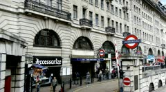 London Baker Street Station Stock Footage