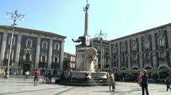 Catania, Dome, elefant, day time. Stock Footage