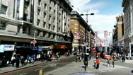 Stock Video Footage of London Oxford Street