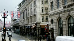 Regent Street London - stock footage