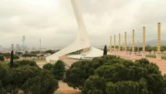 Olympic Park, Barcelona Stock Footage