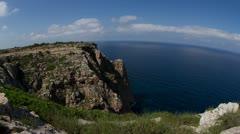 Formentera paradise beach clifftop Stock Footage