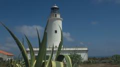 Lighthouse formentera paradise beach Stock Footage