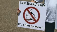 No Sharia Law Stock Footage