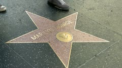 Walk of Fame Marilyn Monroe Stock Footage