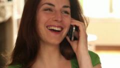 Young women talking on the phone Stock Footage