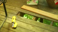 Deck replacement replace board wood wooden home improvement Stock Footage