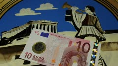 Greek drachma or euro Grexit Stock Footage