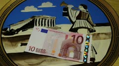 Greek drachm or euro Grexit Stock Footage