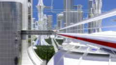 City Future Stock Footage