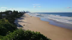 Gold Coast view Stock Footage