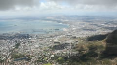 Table Mountain View Stock Footage