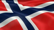 5k High Resolution Norway Flag Stock Footage