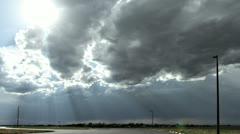 Sunrays and Silver Lined Clouds Stock Footage