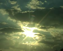 Time-lapse of sun and clouds - stock footage