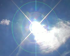Timelapse sun breaking through clouds timelapse Stock Footage