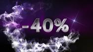 -40% Text in Particle (Double Version) Blue - HD1080 Stock Footage